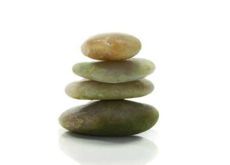 balans in een toren stenen