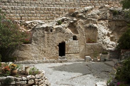 tumbas: lugar de la resurrección de Jesucristo en Jerusalén, Israel Foto de archivo