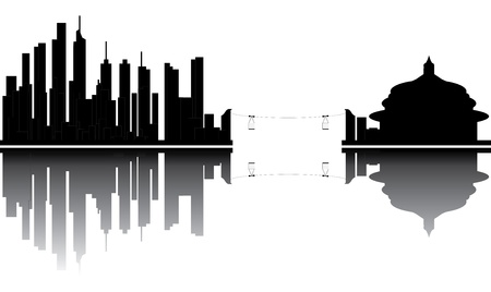 chongqing skyline Stock Vector - 14489805