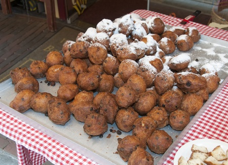 dutch traditional food for new year  called oliebollen Stock Photo - 14532294