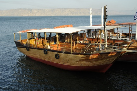 boat on lake of tiberias