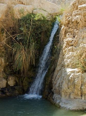 banias: waterfall israel Stock Photo