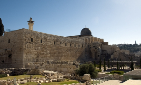 Al-aqsa mosk in the centre of Jerusalem photo