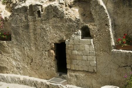 tumbas: lugar de la resurrección de Jesucristo en Jerusalén a Israel Foto de archivo