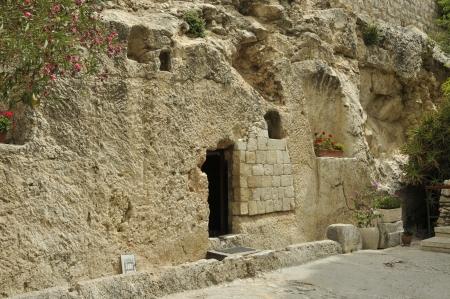 tumbas: lugar de la resurrecci�n de Jesucristo en Jerusal�n a Israel Foto de archivo