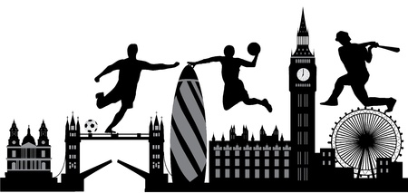 river thames: london sport city Illustration