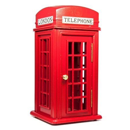 red london telephone isolated on white Stock Photo - 14751567