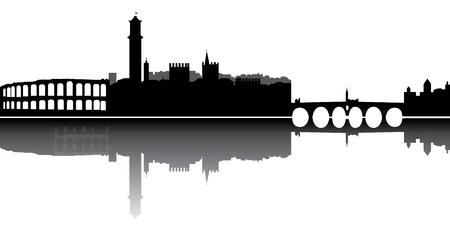 verona skyline Illustration