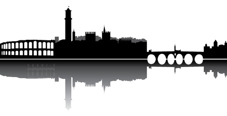 verona skyline Illustration