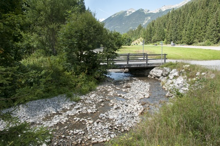 landscape italy trentino area with water rocks and bridge Stock Photo - 14970067