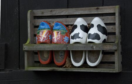 old dutch wooden shoes Stock Photo - 14997508