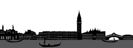 venice italy: venice skyline italy