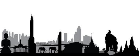 thailsn skyline Stock Vector - 15052433