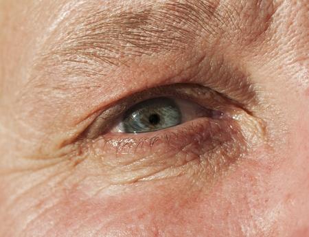 macro de un ojo femenino