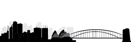 sydney skyline Illustration