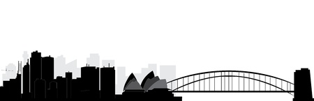 sydney harbour bridge: sydney skyline Illustration