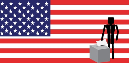 man voting in america Vector