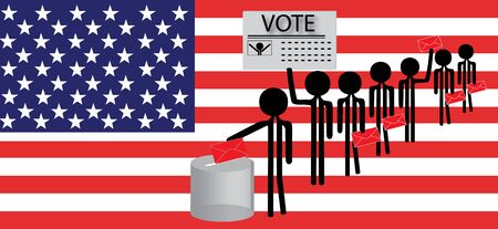 polling place: voting america