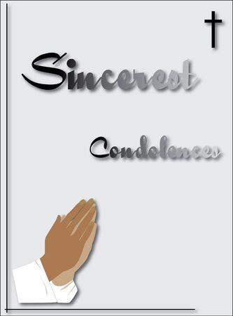condolence: pray condolence card Illustration
