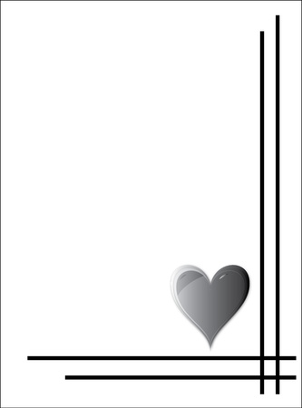 condolence: heart condolence card Illustration
