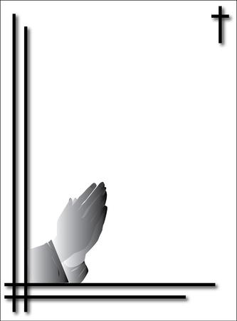 loving hands: praying hands condolence card