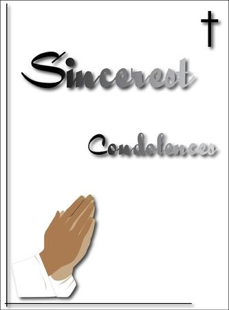 condolence: praying hands condolence card