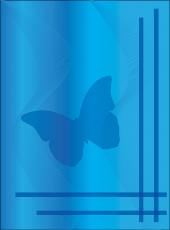 upmarket: butterfly condolence card Stock Photo