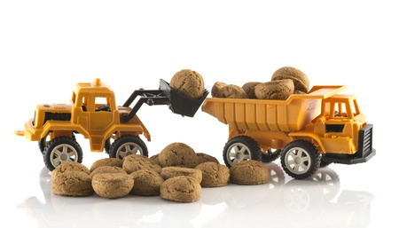 truck full of dutch pepernoten for the sinterklaas party Stock Photo - 16122432