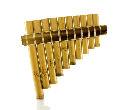 pan flute isolated on white photo