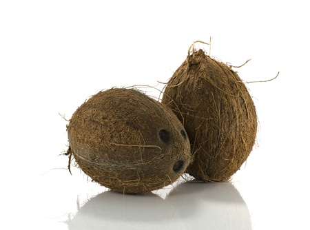 coconut with white background Stock Photo - 16855335