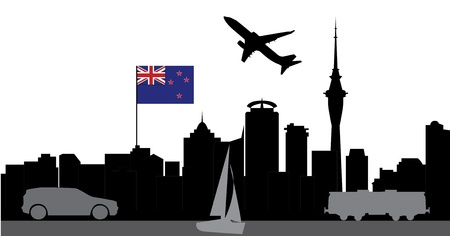 travel auckland new zealand Vector