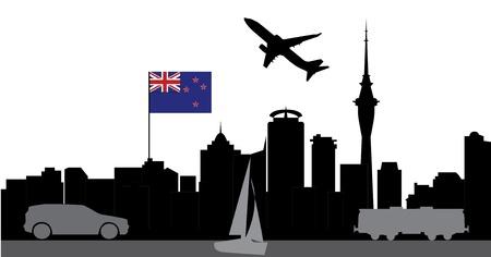 sealand: travel auckland new zealand Illustration