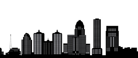 louisville skyline Stock Vector - 16979628