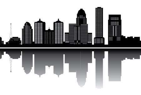 louisville skyline Stock Vector - 16979630