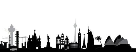 世界一周旅行します。  イラスト・ベクター素材