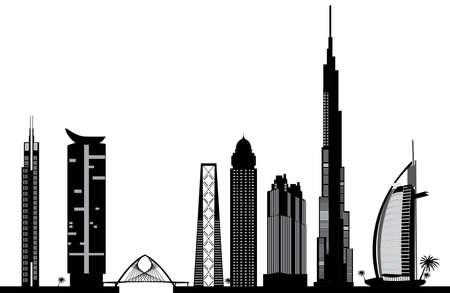 körfez: Dubai silüetinin Çizim