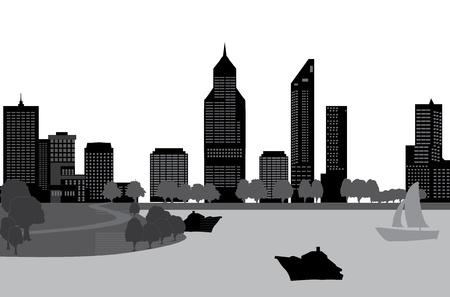 peth skyline Stock Vector - 17684261
