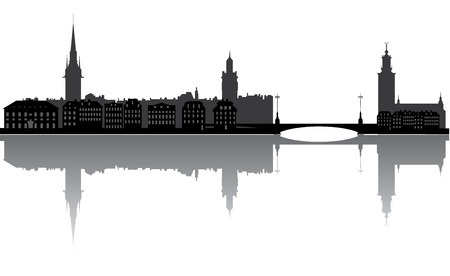 scandinavia: stockholm skyline