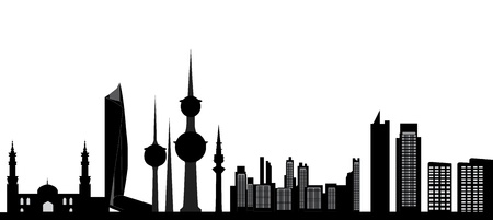 kuwait skyline details Stock Vector - 18278775