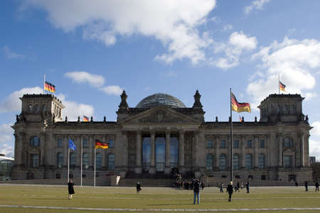 The Reichstag building in Berlin, Germany,It was opened in 1894 as a Parliament of the German Empire and work till today. photo