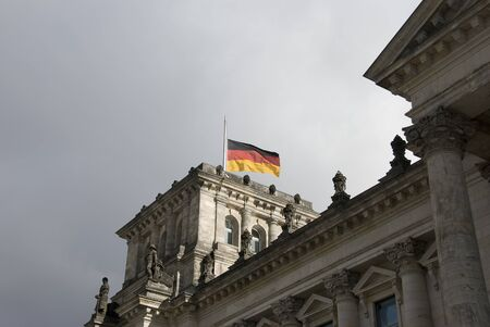 The Reichstag building in Berlin, Germany ,It was opened in 1894 as a Parliament of the German Empire and work till today. photo
