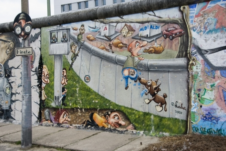 east side gallery the largest outdoor art gallery in the world in Berlin Editorial