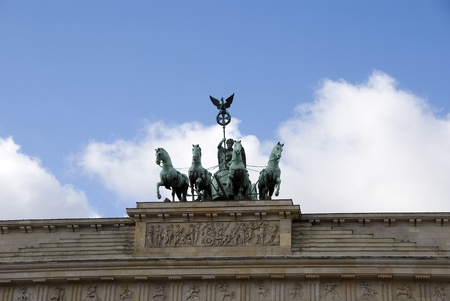 monument with horses  on brandenburger tor  berlin  photo