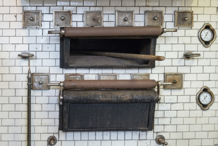 woodfired: old bread oven used in monastery in holland Stock Photo