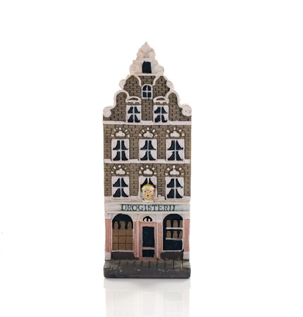 farmacy: amsterdam skyline from miniature model houses like farmacy Stock Photo