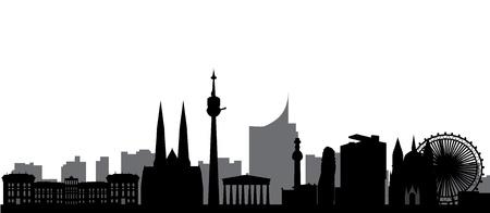 city park skyline: vienna skyline