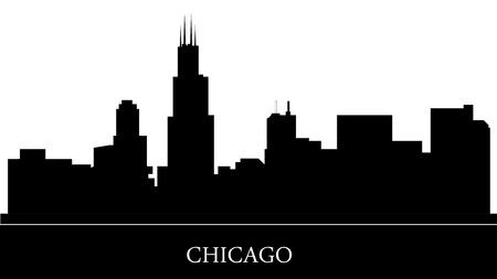 chicago skyline Фото со стока