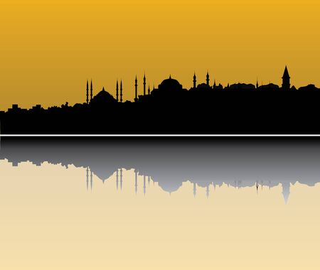 islamic scenery: istanbul skyline Illustration