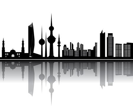 kuwait skyline Foto de archivo