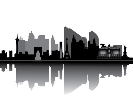 cityscape silhouette: las vegas skyline